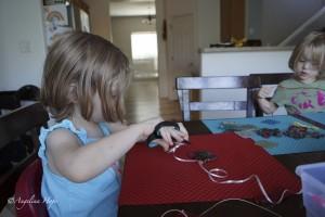 Stringing them up